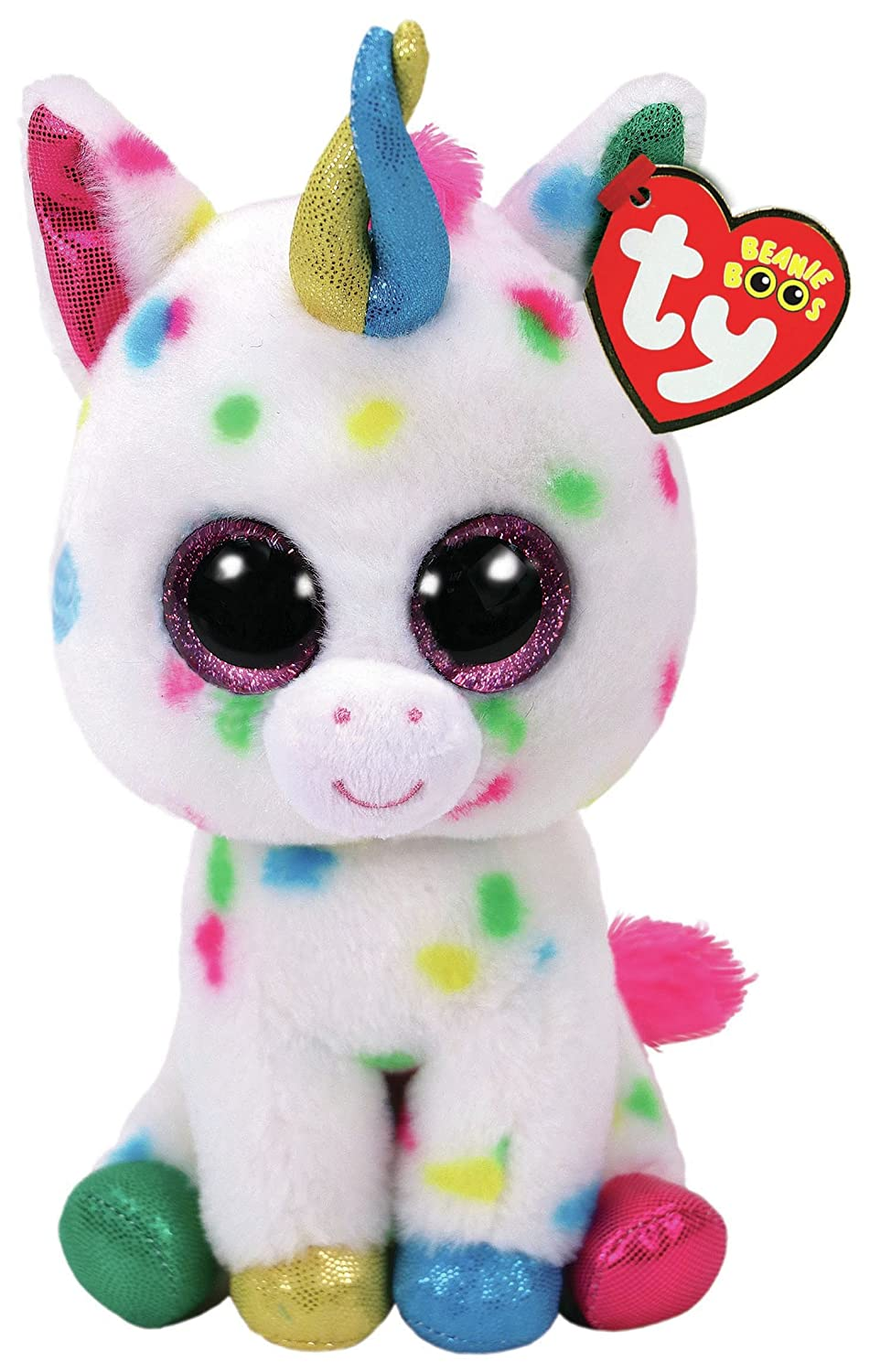 "TY Beanie Boo HARMONIE - Speckled Unicorn, 6"" regular size 6"" regular size 36898"