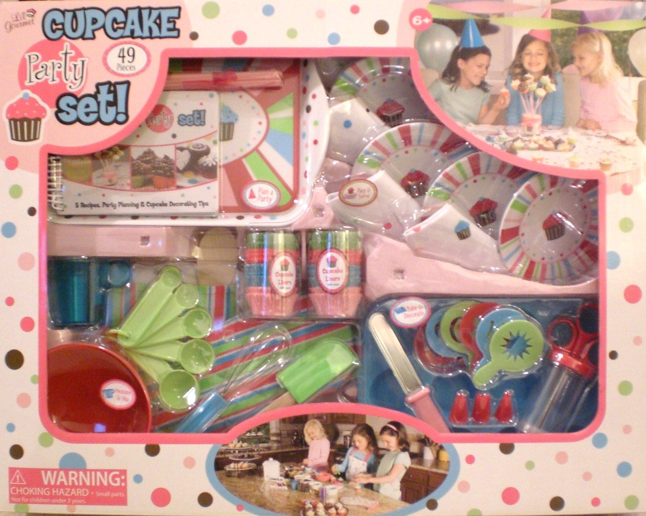 49 Piece Cupcake Party Set Lil Gourmet +++++ by Li'l Gourmet