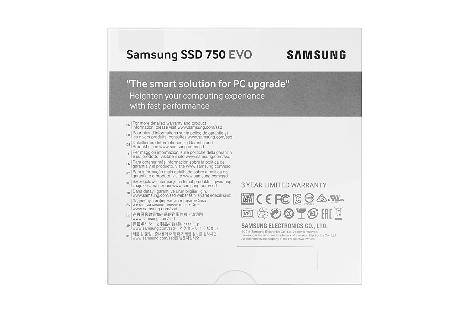 Buy Samsung 750 Evo 500gb 25 Inch Sata Iii Internal Ssd 850 25ampquot 250gb Mz 75e250b Am 750500bw Online At Low Prices In India Reviews Ratings