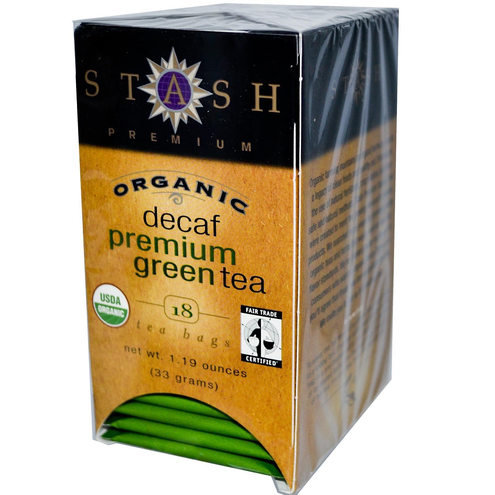 Decaffeinated Premium Green Organic Teas (18 Tea Bags)