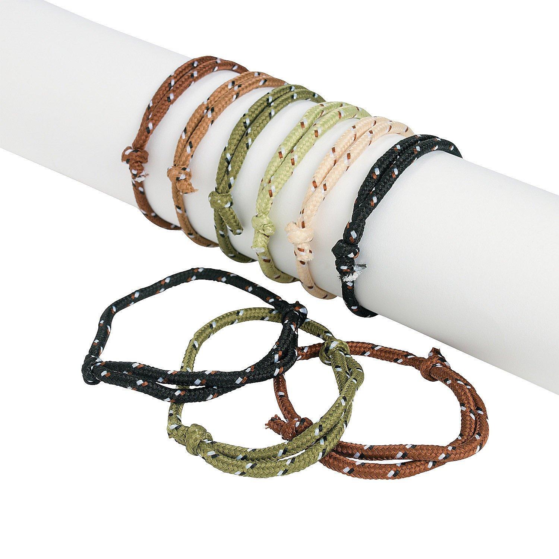 Fun Express Camouflage Camo Rope Bracelets (72 Piece)