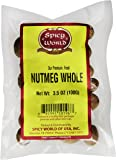 Spicy World Whole Nutmeg, 3.5 Ounce