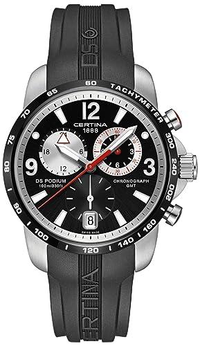 Certina C001.639.27.057.00 - Reloj para Hombres, Correa de Goma Color Negro: Amazon.es: Relojes