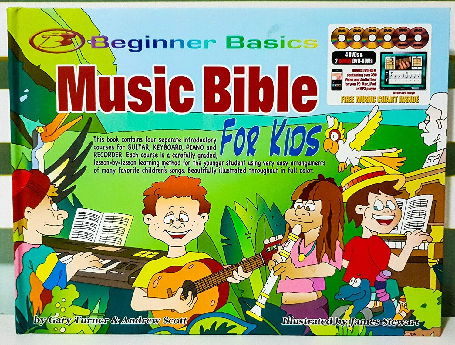 Piano Learn To Play Guitar Childrens Music Bible DVDs Keyboard and Recorder