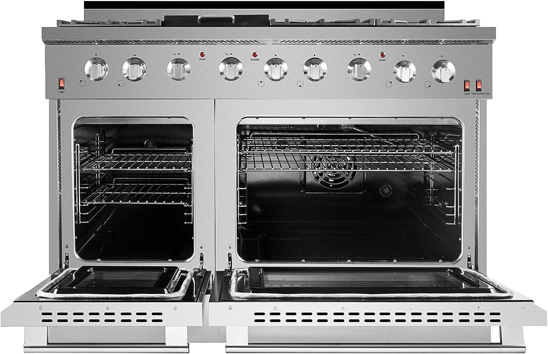 Stainless Steel NXR SC4811 48 Natural Gas Range /& EH4819 Under Cabinet Hood Bundle