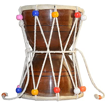 DronaCraft Shiva Drum Damroo Handmade Indian Musical: Amazon