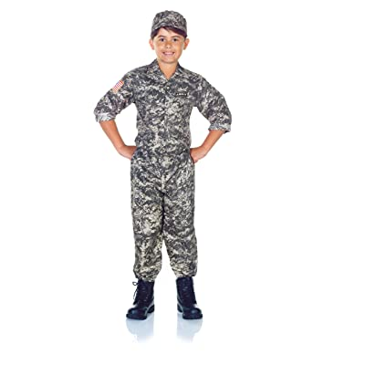 UNDERWRAPS Children's Army Camo Set Costume - Camouflage, Medium (6-8): Clothing