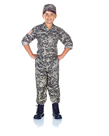 07c0e3ac254 Amazon.com  Underwraps Children s Army Camo Set Costume - Camouflage ...