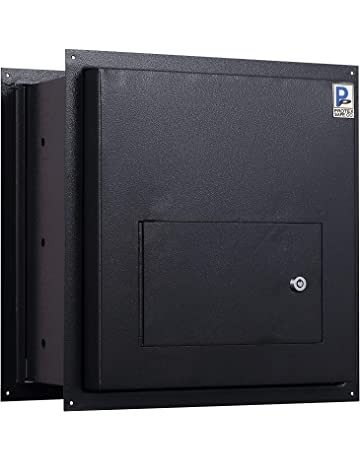 Protex WDD-180 Black Through-The-Wall Locking Drop Box, Black