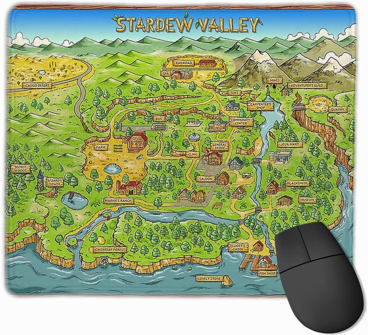 Laptop Computer Stardew Valley Map Customized Gaming and Work Mouse Pad Non-Slip Durable Mouse Pad Small