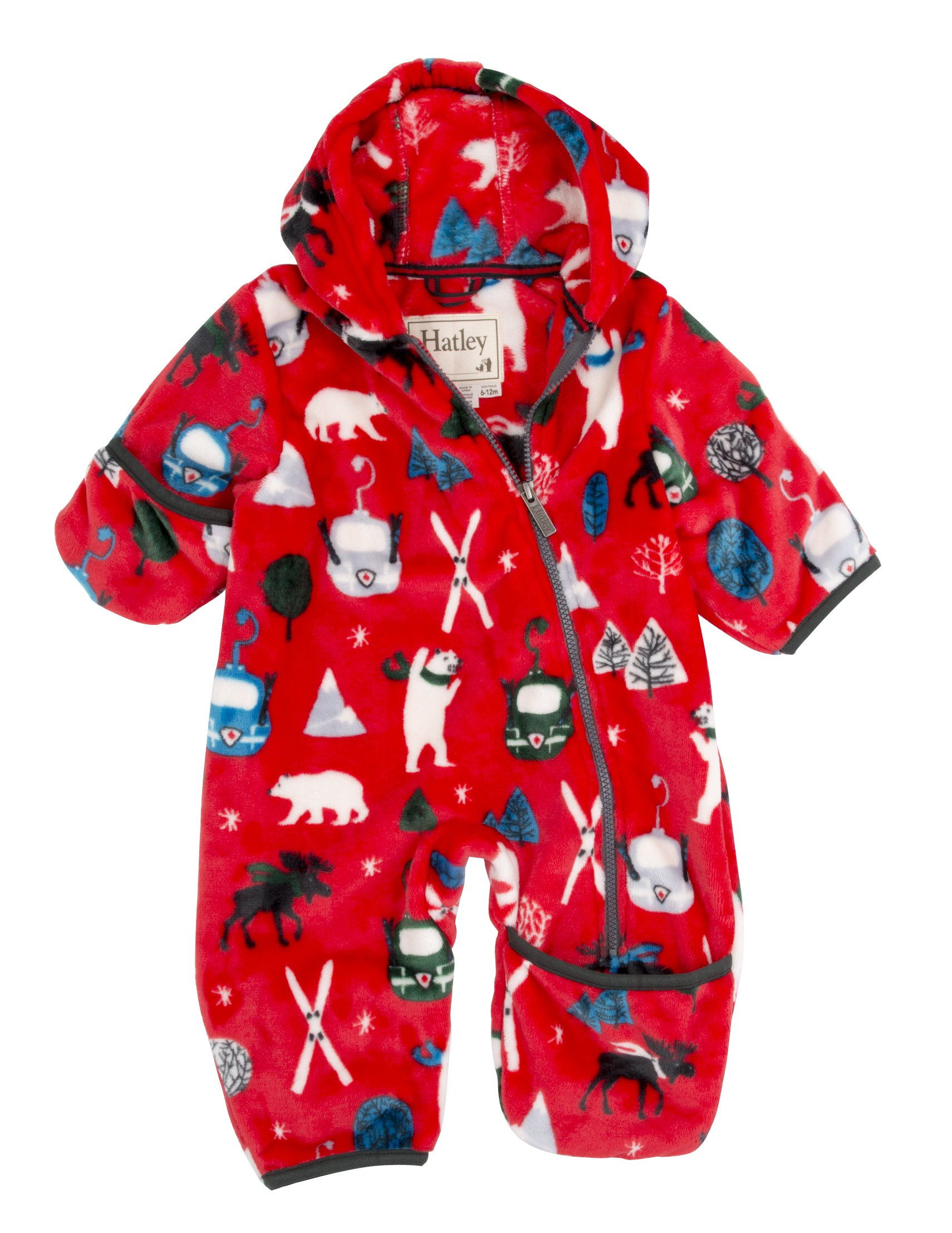 Hatley Babies' Fuzzy Fleece Bundler, Vintage Ski, 3-6 Months by Hatley
