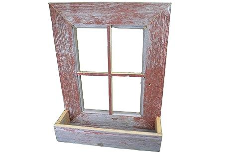 Amazon.com : Amish Country Collectible Handmade Barn Wood Window ...