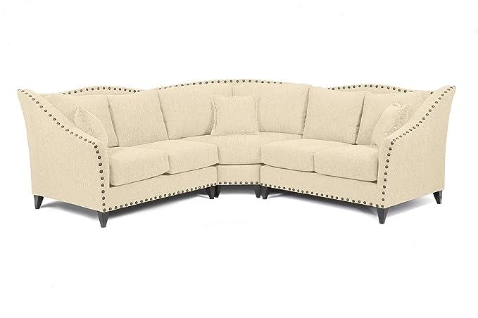 Amazon.com: Loni M. Designs Alexandria Sectional Sofa, Mustard: Kitchen U0026  Dining