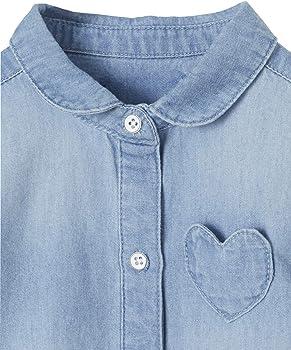 VERTBAUDET Camisa Vaquera Lavada para bebé niña Azul Claro Lavado 3M-60CM: Amazon.es: Ropa y accesorios