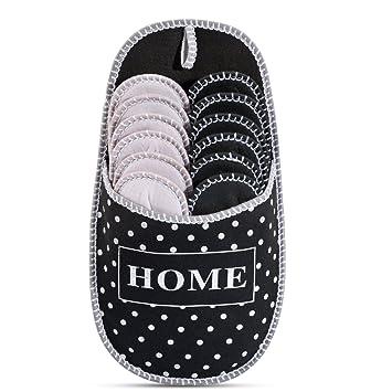 stile alla moda grandi affari miglior valore Pantofole degli ospiti a pois in ABS | Set da 6 | antiscivolo | scarpe da  casa| pantofole di feltro