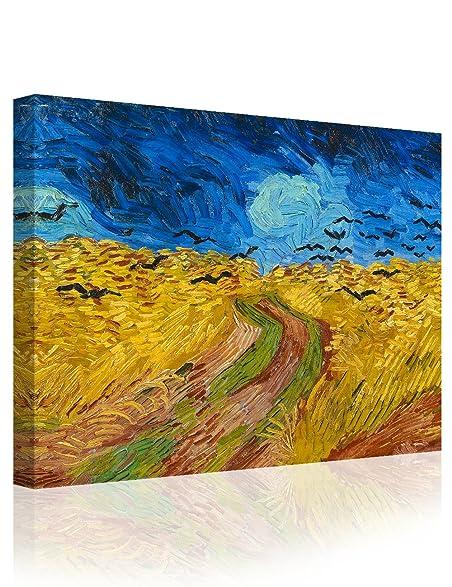Amazon.com: IPIC - Wheat Field with Crows, Vincent Van Gogh Art ...