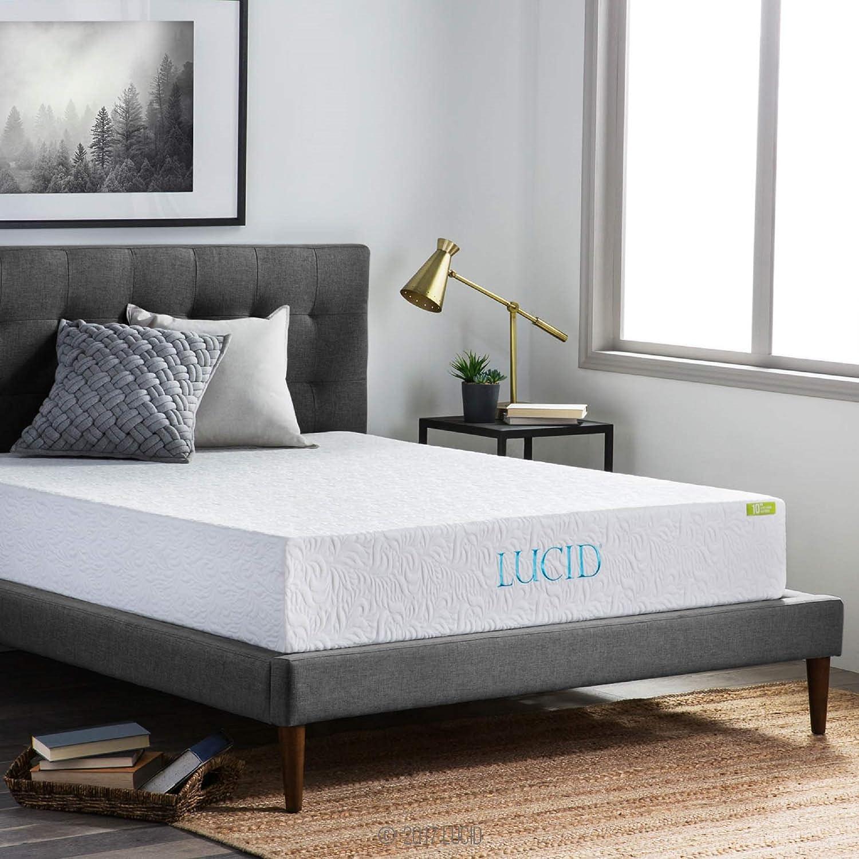 .LUCID 10 Inch -Best Gel Memory Foam Mattress 2021