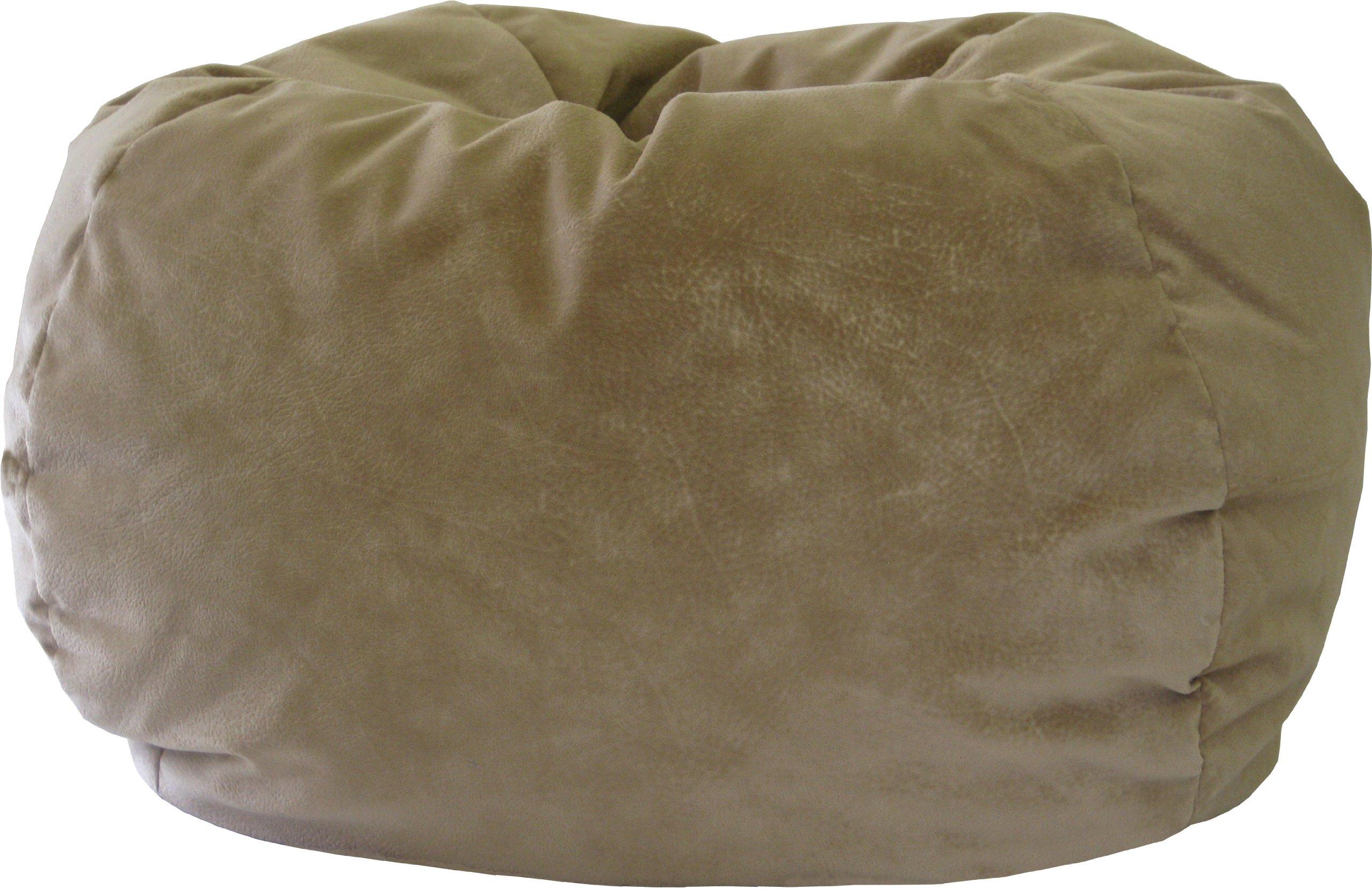 Gold Medal Bean Bags 30014058909 XX-Large Fairview Suede Bean Bag, Buff