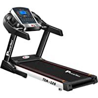 Powermax Fitness TDA-125 (2.0 HP), Smart Run Function, Auto Lubrication & Auto Inclination Motorized Treadmill for Cardio Workout