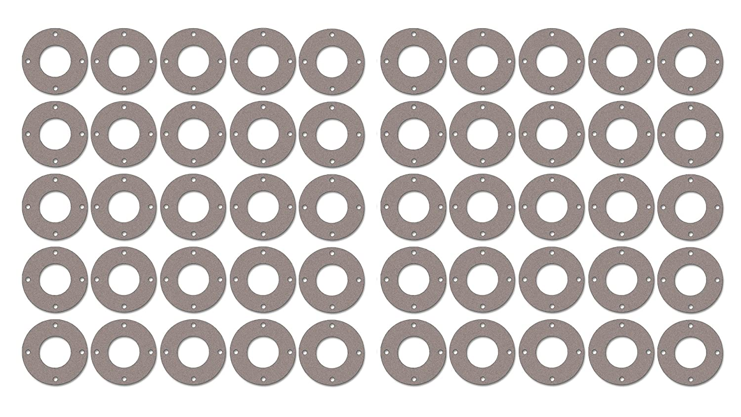 Sterling Seal CFF7237.400.125.150X50 7237 Red Rubber Full Face Gasket 4 Pipe Size 4.5 ID Pressure Class 150# Pack of 50 1//8 Thick