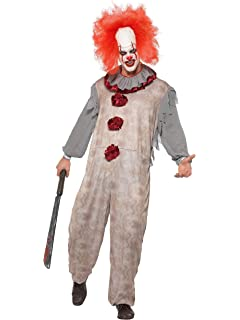 Smiffys Clown Lady Costume Disfraz de payaso vintage, color gris y ...