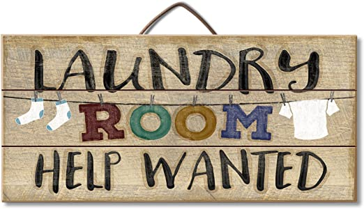 "Amazon.com: Letrero ""Laundry Room Help Wanted"", en ..."