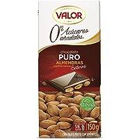 Chocolates Valor Chocolate Puro con Almendras sin Azúcar