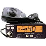 President Adams FCC CB Radio. Large LCD with 7 Colors, Programmable EMG Channel Shortcuts, Roger Beep and Key Beep, Electret