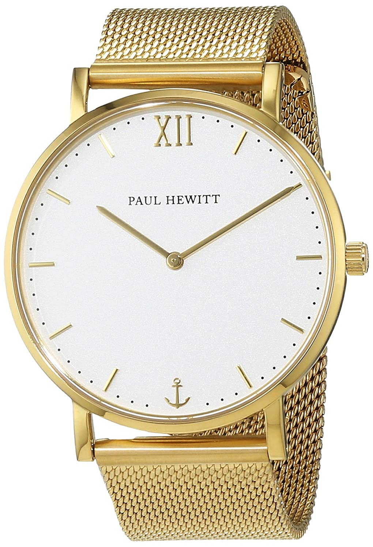 Paul Hewitt Unisex-Armbanduhr Analog Quarz Edelstahl PH-SA-G-St-W-4S