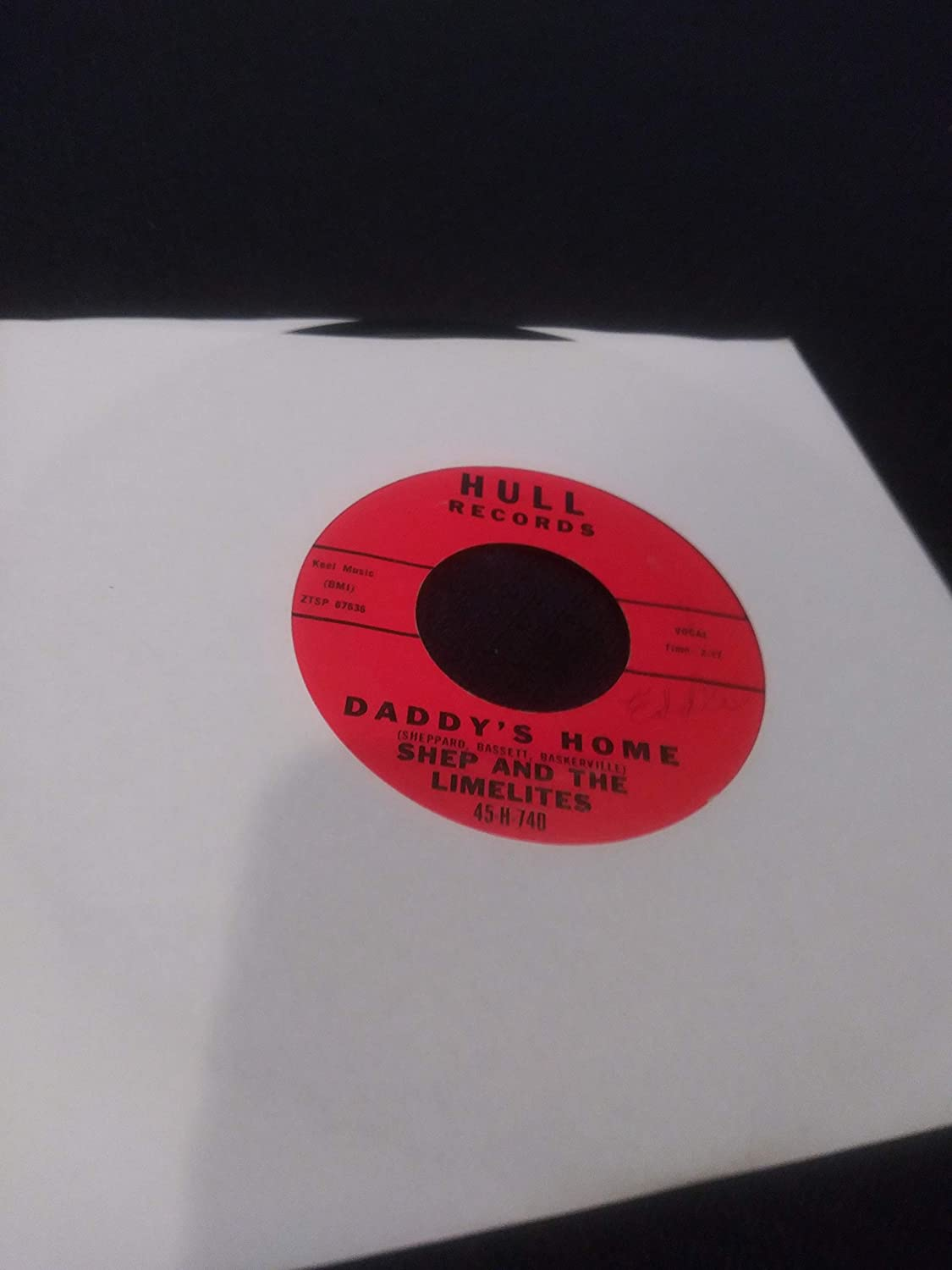 """Daddy's Home / This I Know VINYL 7"""" 45 – Hull Records – DB 841 / DB 842"""