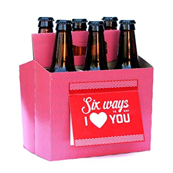 Amazon.com: BEER Valentines Day Gifts for Him or Her - Six Pack ...