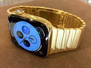 Custom 24K Gold Plated 44mm iWatch Series 6 with Gold Plated Link Band (2020 Release) - O2 Monitor - LTE - GPS