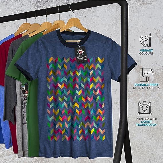 b4370deb2a92e2 Amazon.com  wellcoda Abstract Stylish Mens Ringer T-Shirt