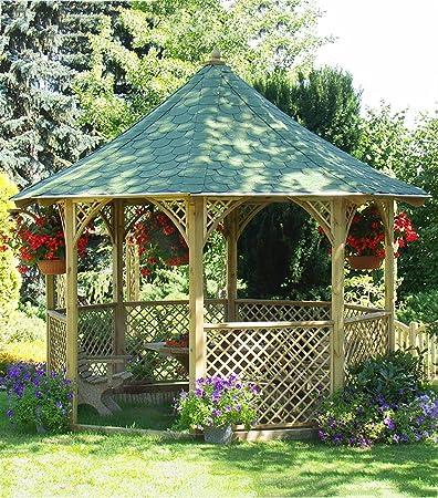 Chopin Cenador. Jardín Casa de madera barato comprar. (h335 X 350 cm): Amazon.es: Jardín