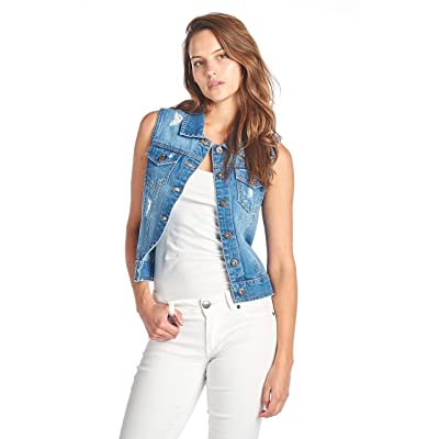 ICONICC Women's Denim Jean Sleeveless Vest at Women's Coats Shop