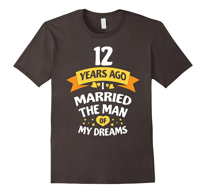 12th Wedding Anniversary Gift for Her – 12 Years T-Shirt-Teeae