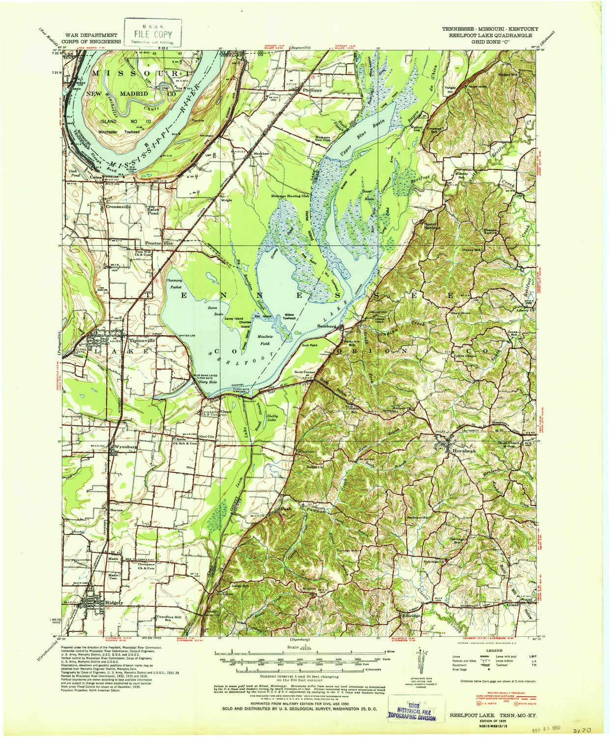 Reelfoot Lake Tennessee Map.Amazon Com Reelfoot Lake Tn Topo Map 1 62500 Scale 15 X 15 Minute