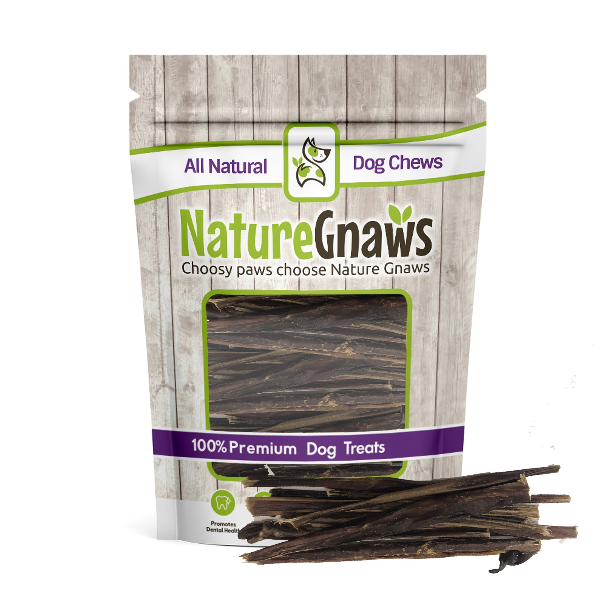 Nature Gnaws Extra Thin Pork Bully Sticks 5-6'' (50 Pack) - 100% All-Natural Premium Dog Chews - For Small Breeds & Light Chewers