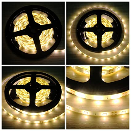 B2ocled Flexible LED Strip Lights,2835 LEDs Warm White Waterproof LED Light  Strip,12V