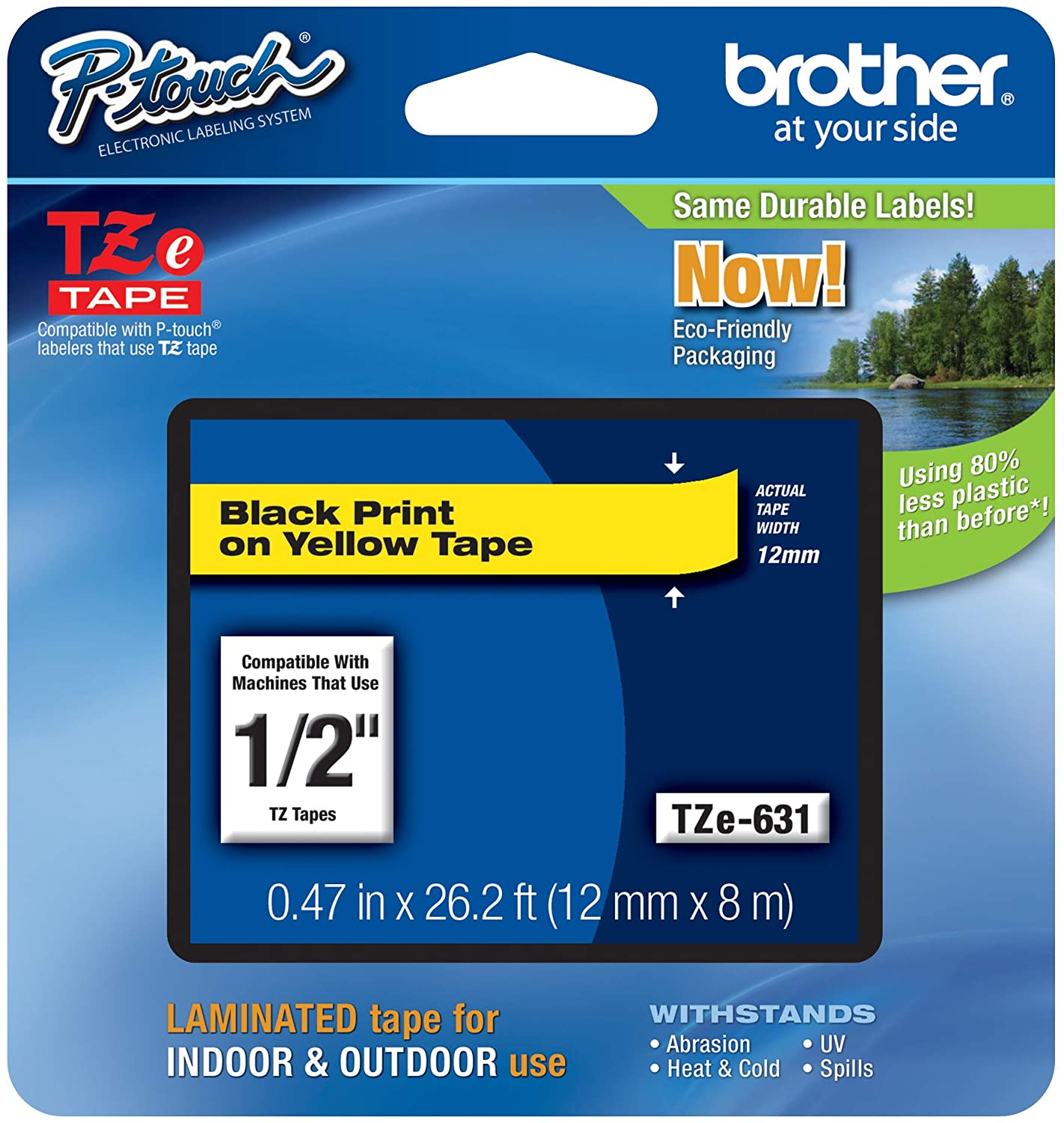 """1PK Black on Starry Rainbow Red Laser Label for Brother TZ-431L1 P-Touch 0.47/"""""""
