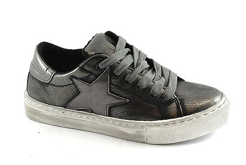 Scarpe Donna Fucile Sportive Divine Sneakers 106 Canna Follie Grigio ZwXB1q