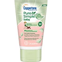 Coppertone Pure & Simple Baby SPF 50 Sunscreen Lotion, Tear Free, Water Resistant...