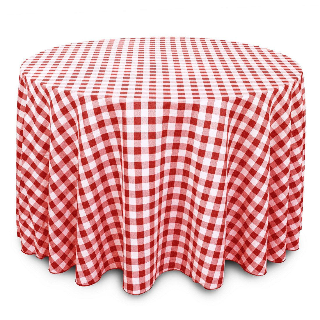 Amazon.com: LinenTablecloth 108 Inch Round Polyester Tablecloth Red U0026 White  Checker: Home U0026 Kitchen