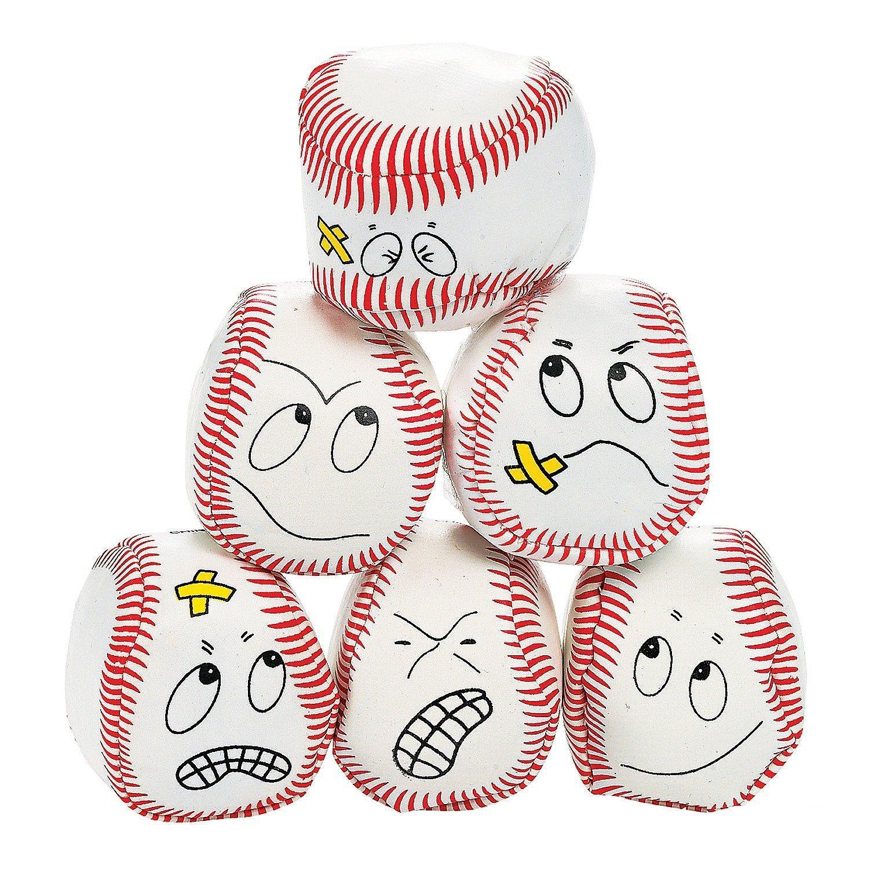 12 silly face Vinyl Baseball Kick Balls