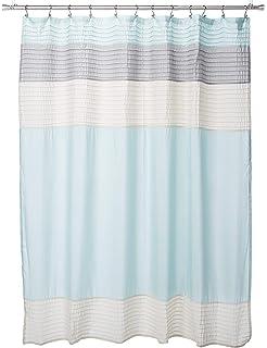 Amazoncom Madison Park Mp70 246 Amherst Shower Curtain 72x72 Black