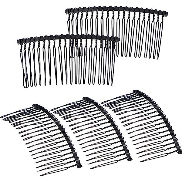 10pcs Hair Comb Pin Black Accessories Iron Lady Vintage Fashion K1Z7