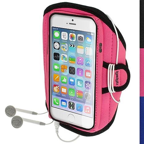 igadgitz Wasserabweisend Pink Rosa Sports Jogging Armband Laufen Fitness Oberarmtasche für Apple iPhone 6 & 6S 4,7 Zoll