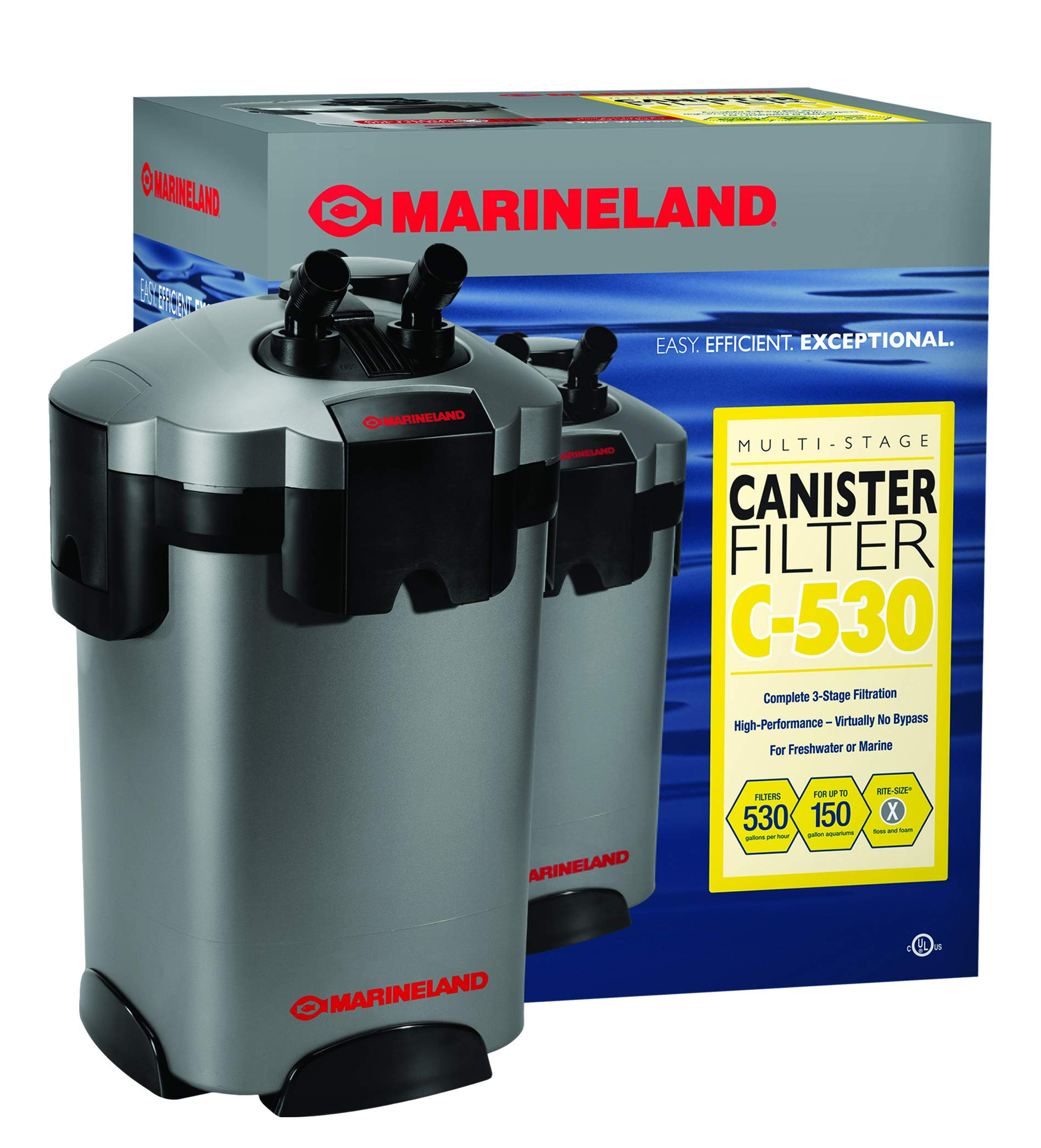MarineLand Multi-Stage Canister Filter for Aquariums, C-Series by MarineLand