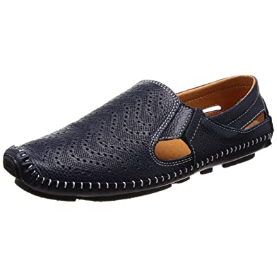 ALEADER 4562320453608 Fashionable Leather Men's Breathable Business Shoes British Style Casual Comfort Sandals Loafers Black 255, one Size,: Home & Kitchen