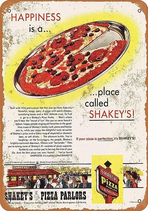 Shakeys Pizza Parlors Placa Cartel Vintage Estaño Signo ...